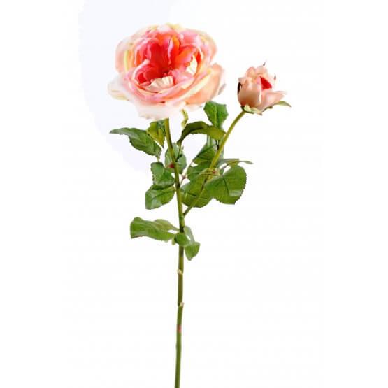 Rose Damask - Par 3 - Fleurs Artificielles