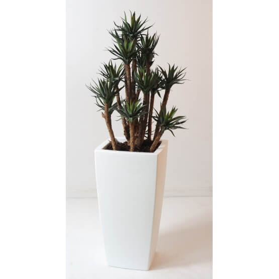 agave artificielle en pot pure blanc 120 cm