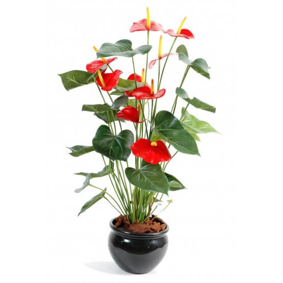 anthurium artificiel en pot