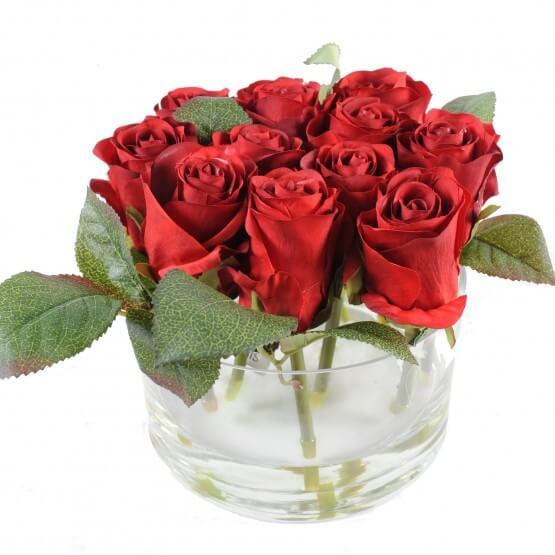 Verrerie de roses - 3 couleurs au choix