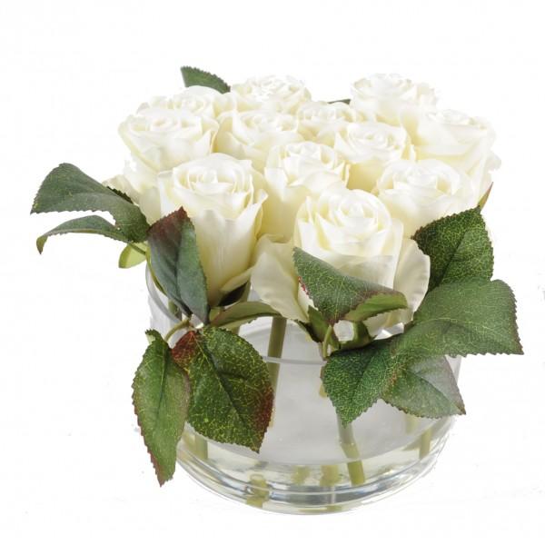 Composition fleur artificielle - Bouquet de rose artificielle ...
