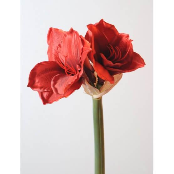 Amaryllis artificiel en tige 75 cm vendus par 6