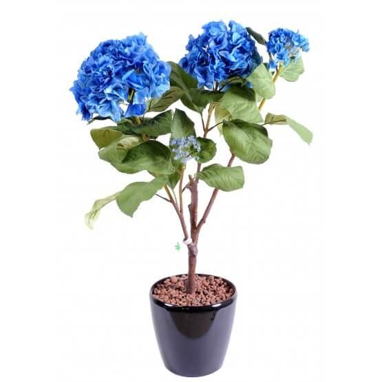 Hortensia artificiel en piquet - 3 couleurs au choix
