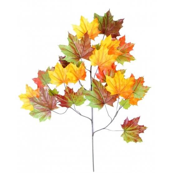 Tiges de platane artificielle - vendues par 6 - 2 couleurs automne ou vert