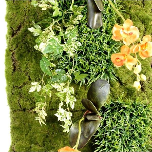 mur vegetal artificiel 88 x 40 cm 147 00. Black Bedroom Furniture Sets. Home Design Ideas