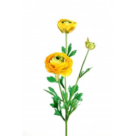 Fleurs artificielles RENONCULES - Vendues par 6 tiges à la couleur - Jaune ou Pêche