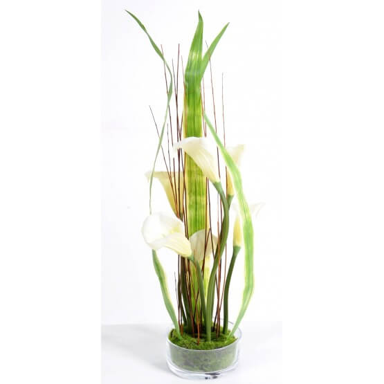 Bouquet de Calla artificiel - Verrerie - 85 cm