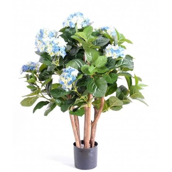 Hortensias artificiels 80 cm - Bleu ou Blanc