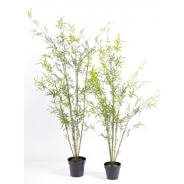 Bambou artificiel 55 bambous au tronc bois naturel ou for Bambou artificiel