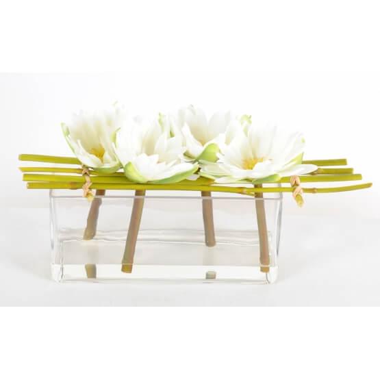 Lotus fleurs artificielles en vase