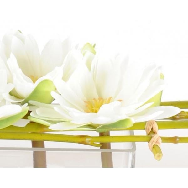 lotus fleurs artificielles en vase 79 00. Black Bedroom Furniture Sets. Home Design Ideas