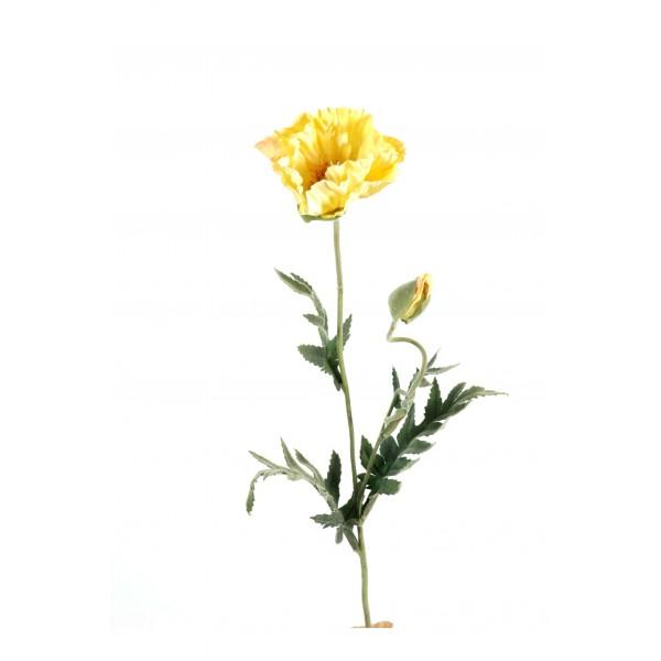 pavots artificiels jaunes par 6 fleurs artificielles. Black Bedroom Furniture Sets. Home Design Ideas