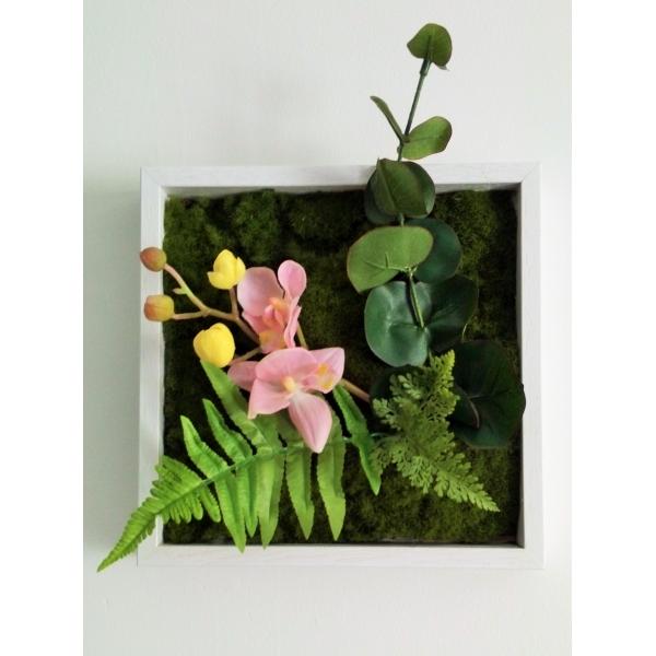 tableau v g tal artificiel plantes vertes ou fleuries. Black Bedroom Furniture Sets. Home Design Ideas