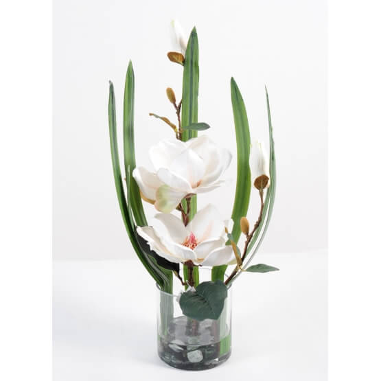 Bouquet artificiel vase Magnolia B