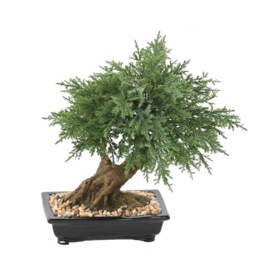 Bonsaï artificiel Juniperus en coupe