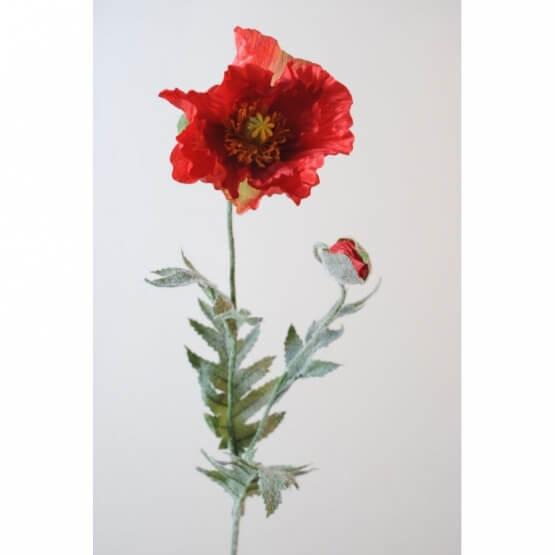 Pavots artificiels rouges - Par 6 - Fleurs Artificielles