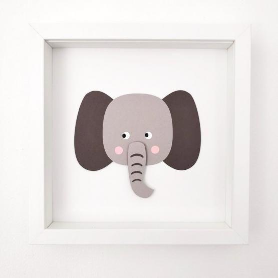 Tableau en papier - ELEPHANT