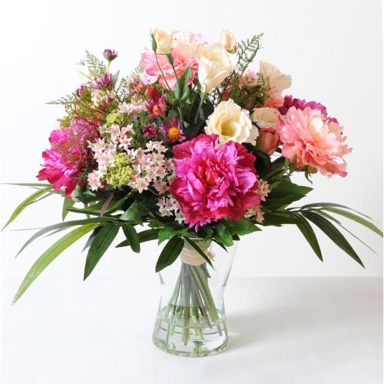 Bouquet artificiel Coloré - Pivoines
