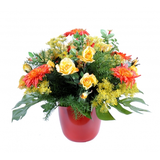 Bouquet assorti de fleurs artificielles