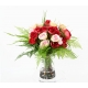 Bouquet de Roses Artificielles Rouge