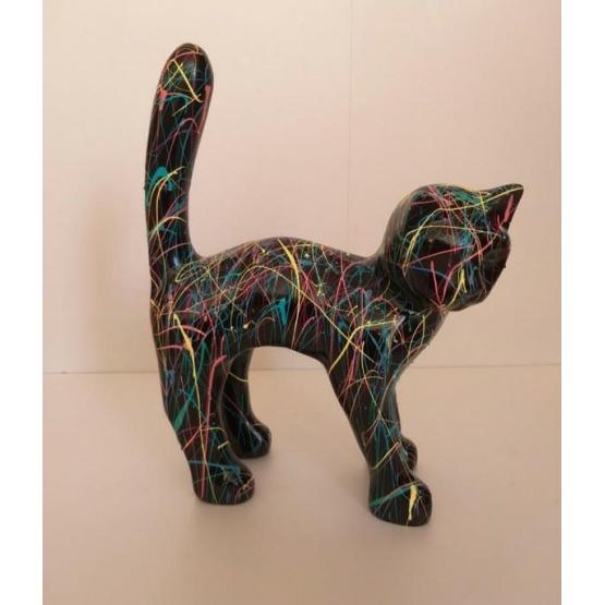 Chat en résine STREET ART 45 cm