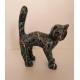 Chat en résine STREET ART 45 cm noir