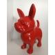 Chien en résine Chihuahua Monochrome Rouge