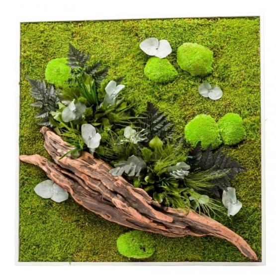 Tableau Végétal stabilisé NATURE CARRE XL