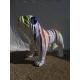 Bulldog Anglais XL en résine Trash blanc