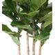 Ficus artificiel Lyrata + bac carré 40x40 cm
