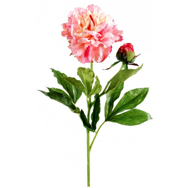 Pivoines artificielles roses par 12 fleurs for Roses artificielles