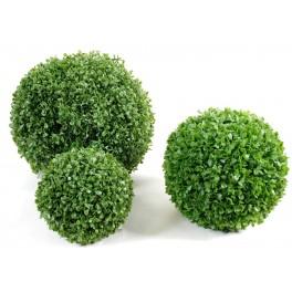 Buis artificiel tige double boules 2 boules de buis for Plante boule artificielle